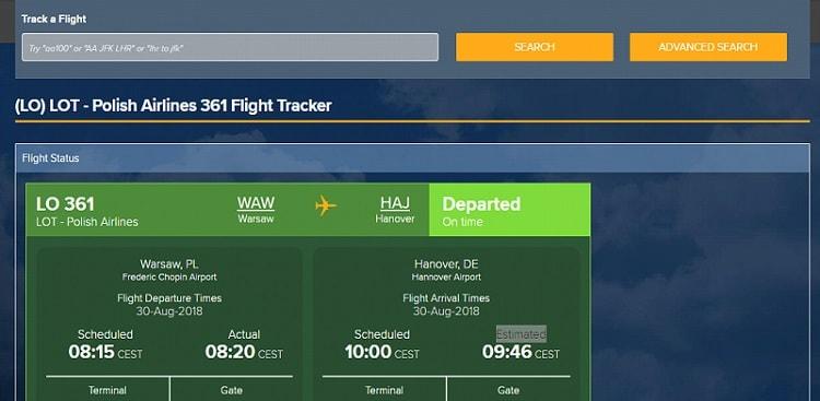 Statystyki lotów