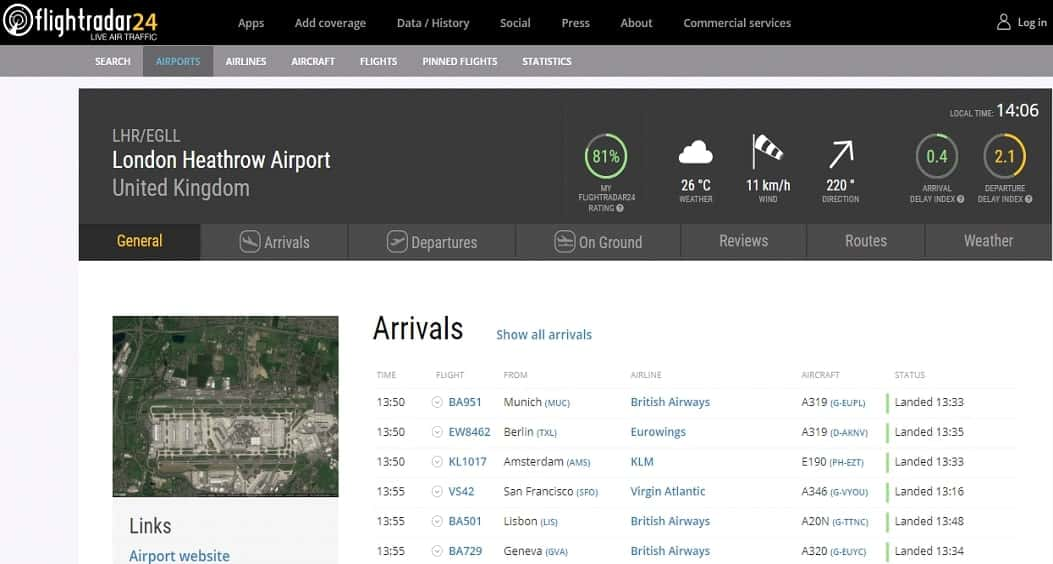 Heathrow Detale